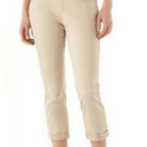 WHBM SLIM CROP LEG SATEEN DRESS PANTS